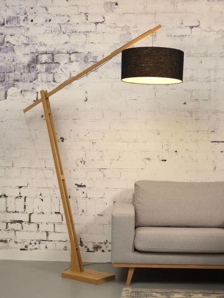 Stehlampe Montblanc, schwarz