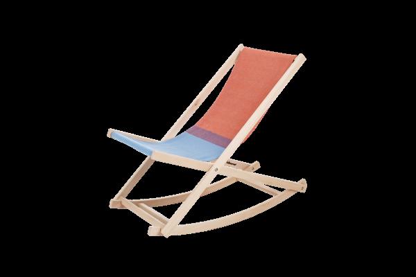 Schaukelstuhl Beach-chair, rot / blau, Weltevree