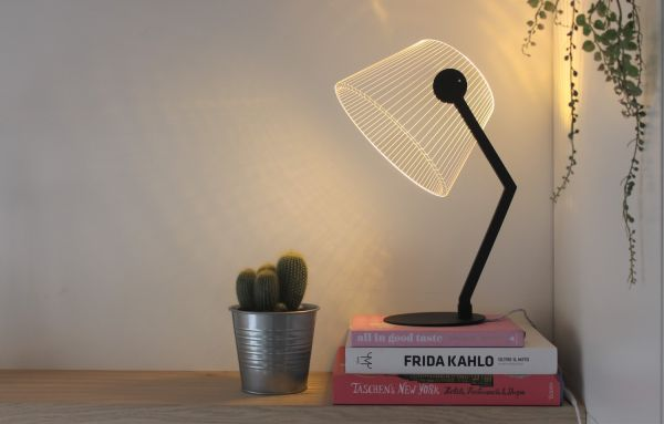 Tischlampe Ziggi, schwarz