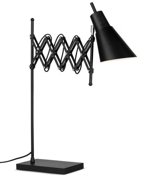 Tischlampe Oxford, Metall mit Scherenarm, schwarz