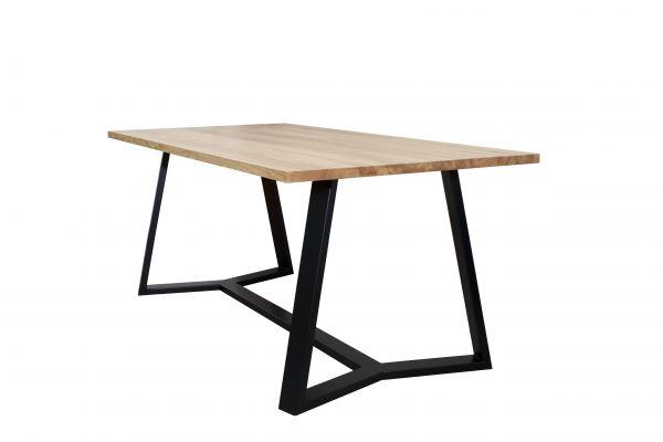 Tisch Vertico, Eichenplatte, schwarz