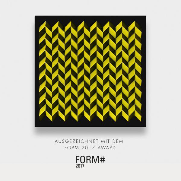 Foldart Papferfold schwarz-gelb. Basis Acryl, schwarz