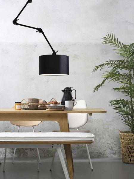 Amsterdam 3230, Lampenschirm aus Baumwolle, schwarz