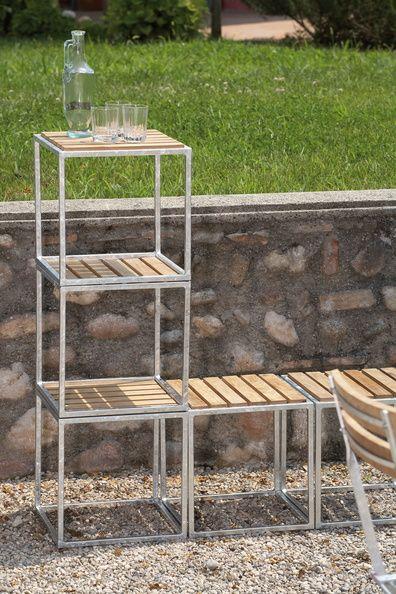 Outdoormöbel aus Teak und Stahl
