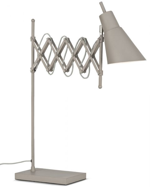 Tischlampe Oxford, Metall mit Scherenarm, smoke grey