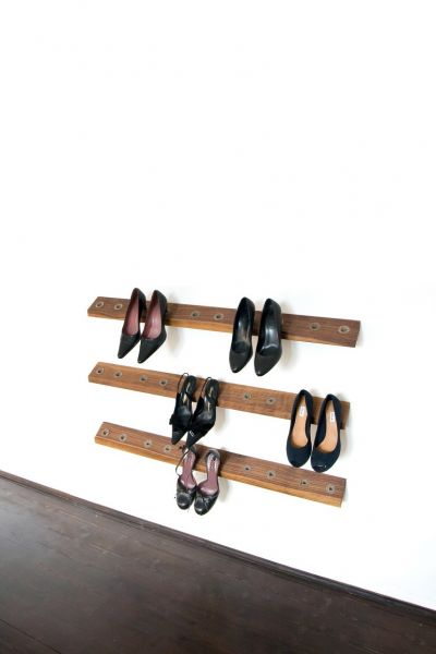 Schuhaufbewahrung Heelhole, nussbaum