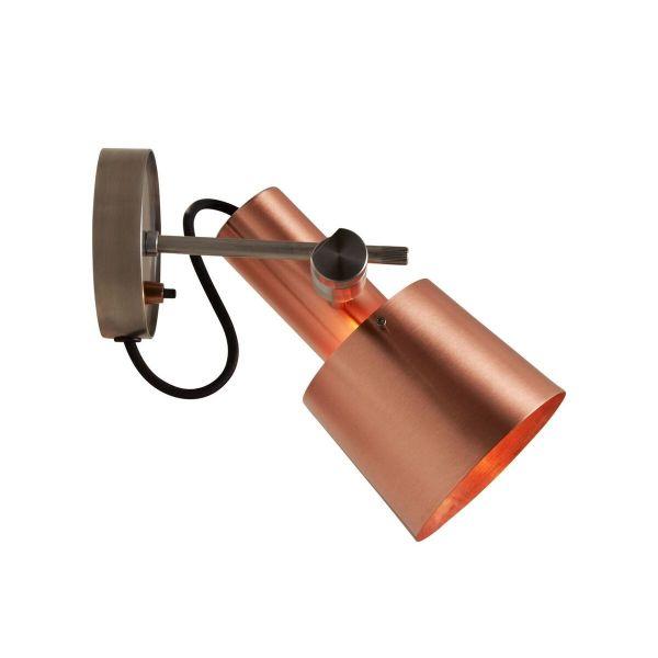 Wandlampe aus Kupfer