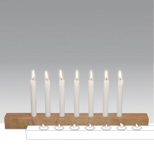 Kerzenständer Brennholz