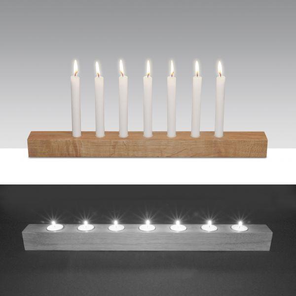 Kerzenständer Brennholz von Raumgestalt