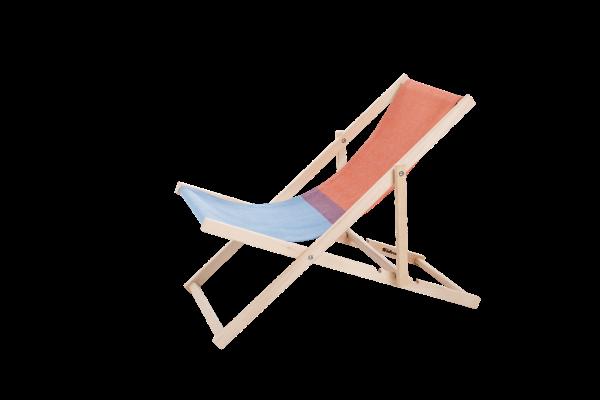 Beach chair, rot / blau, Weltevree