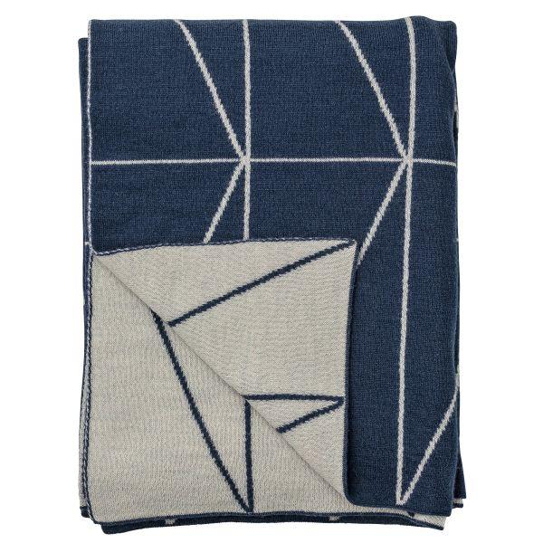 Wolldecke mit geometrischen Mustern. Bloomingville