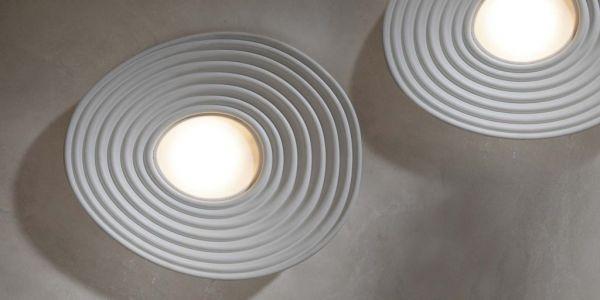 Deckenlampe aus Gips R.O.M.A von Karman
