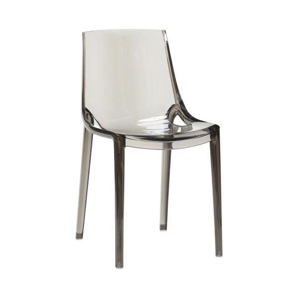 Stuhl aus Kunststoff, grau