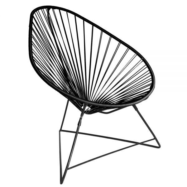 Acapulco chair, schwarz