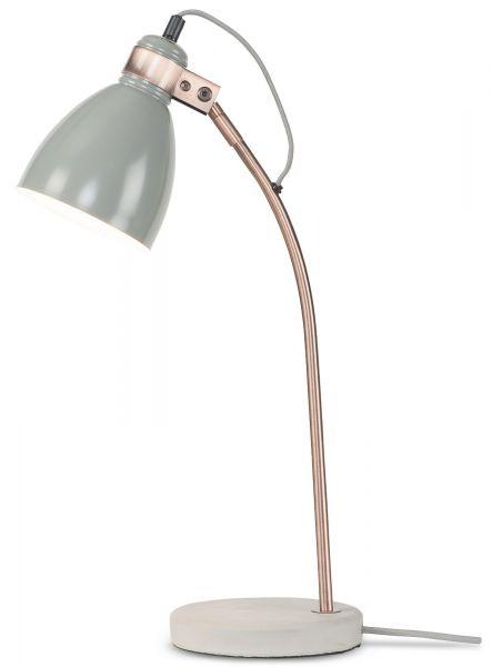 Tischlampe aus Metall und Betonfuß