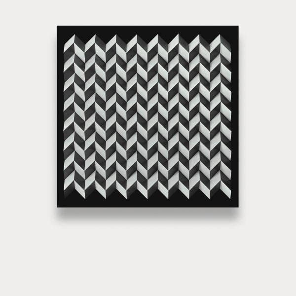 Foldart Paperfold schwarz-weiß. Basis Acryl, schwarz