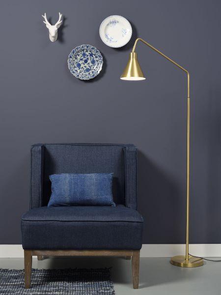 Stehlampe Lyon, gold