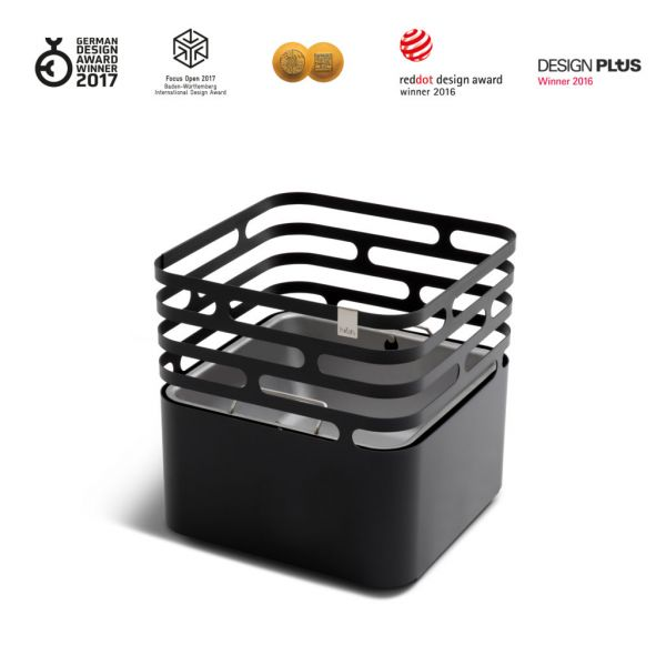 Cube - Feuerschale, Grill & Sitzgelegenheit